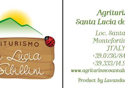 Cartellino Agriturismo Santa Lucia dei Sibillini Montefortino