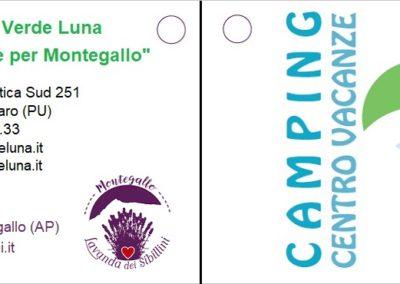 Cartellino Camping Verde Luna - Fronte2