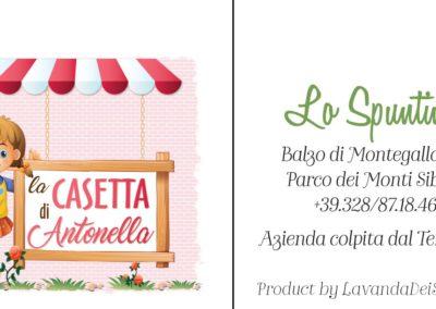 Cartellino Casetta di Antonella - Montegallo