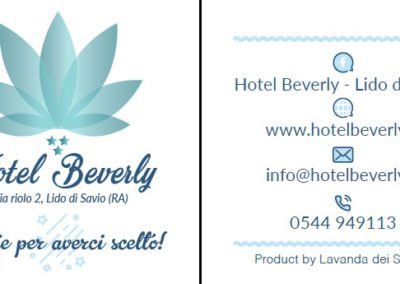Cartellino Hotel Beverly - Lido di Savio