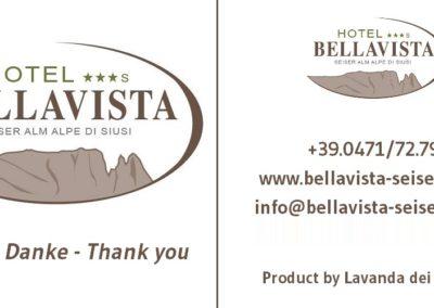 Cartellino Lavanda dei Sibillini per Hotel Bellavista Alpe di Siusi