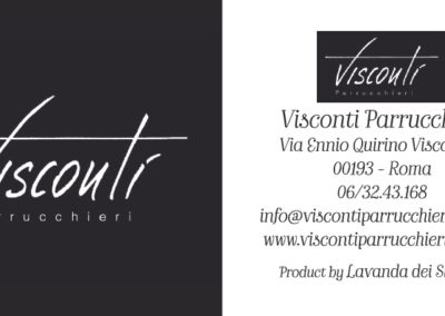 Cartellino Visconti Parrucchieri Roma