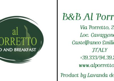 Demo Cartellino B&B Al Porretto - Castelfranco