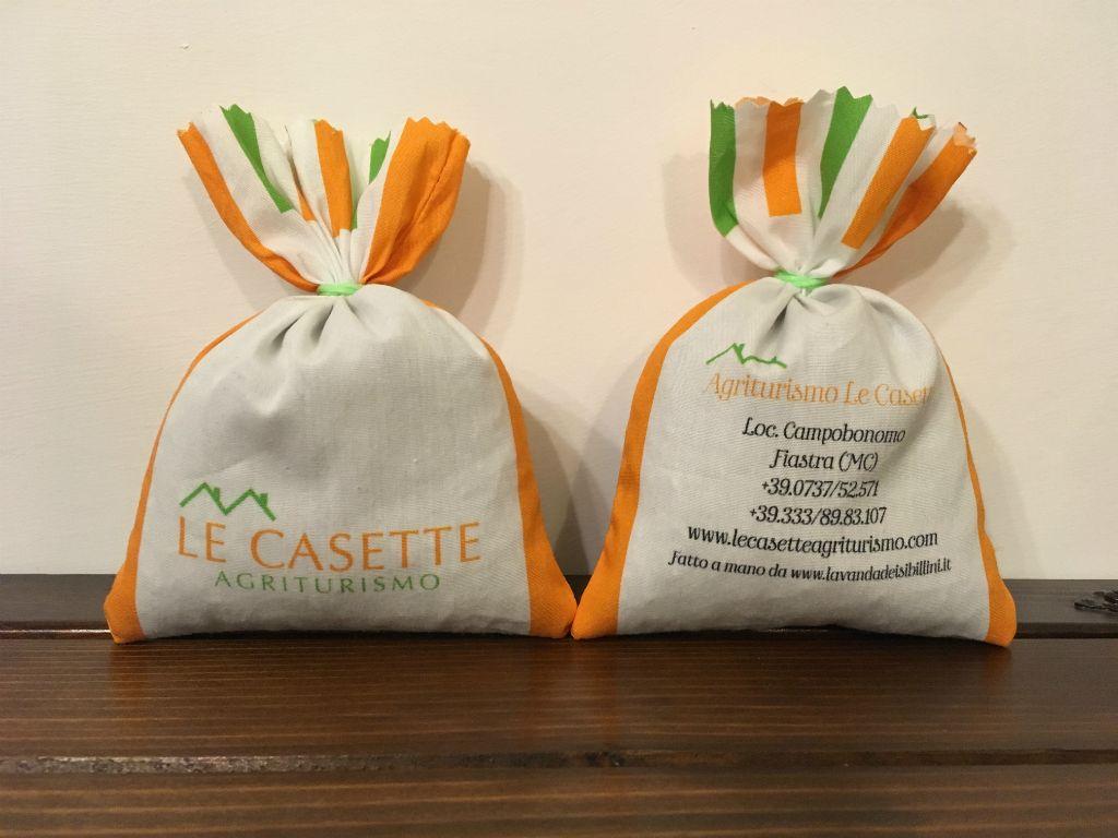 Sacchetti in Cotone personalizzati Agriturismo La Casette Lavanda dei Sibillini