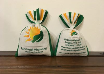 Sacchetti in Cotone personalizzati Hotel Miramonti Lavanda dei Sibillini