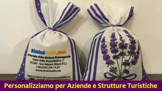 Sacchetti di Lavanda personalizzati per Aziende e Strutture Turistiche di Lavanda dei Sibillini